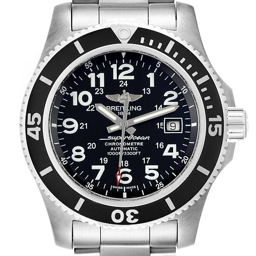 Breitling Superocean II 44 Black Dial Mens Watch A17392 Box
