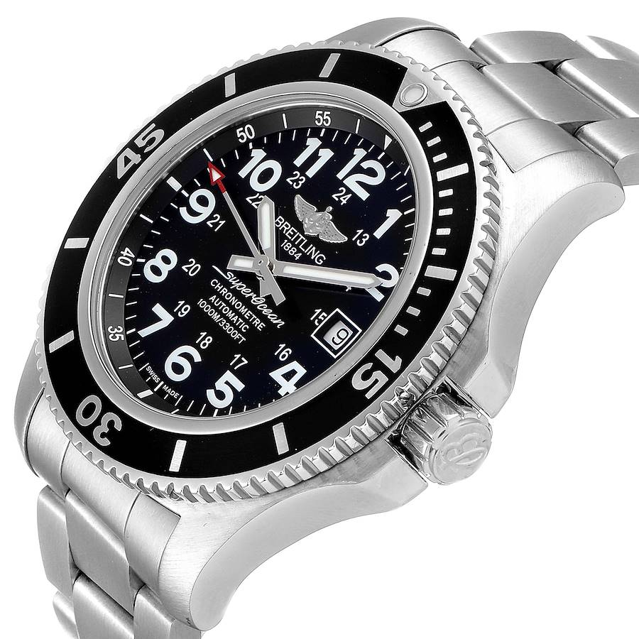 Breitling Superocean II 44 Black Dial Mens Watch A17392 Box SwissWatchExpo