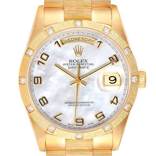 Photo of Rolex President Day-Date 18K Yellow Gold Diamond Mens Watch 18308
