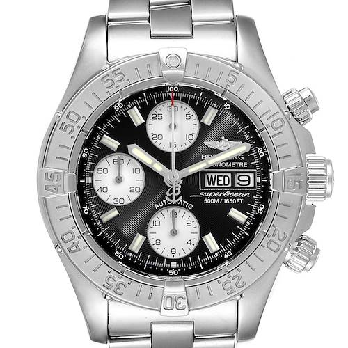 Breitling Aeromarine Superocean Black Dial Mens Watch A13340 Box
