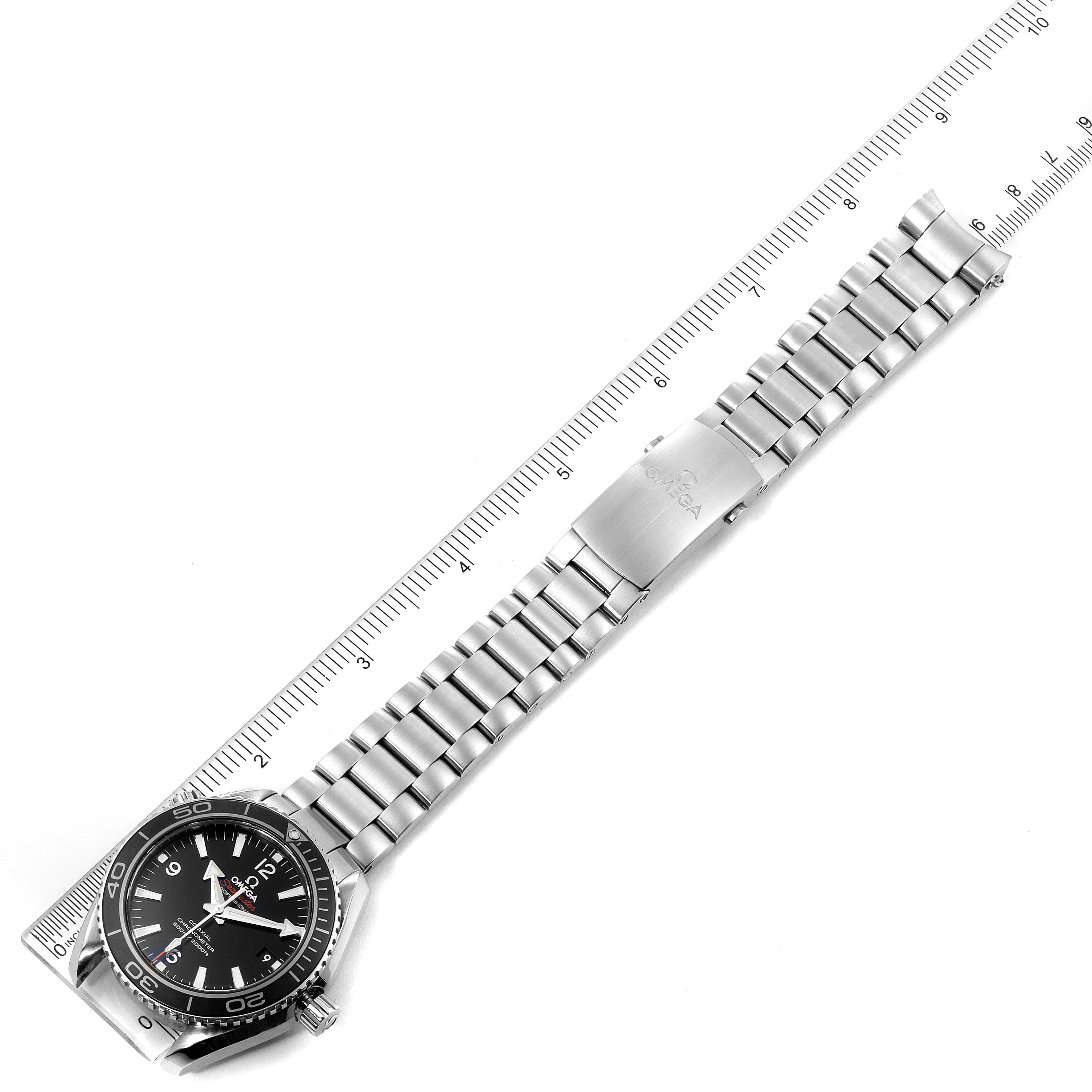 Omega Seamaster Planet Ocean Steel Mens Watch 232.30.42.21.01.001 Box Card SwissWatchExpo