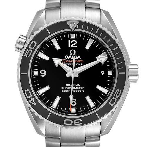 Photo of Omega Seamaster Planet Ocean Steel Mens Watch 232.30.42.21.01.001 Box Card