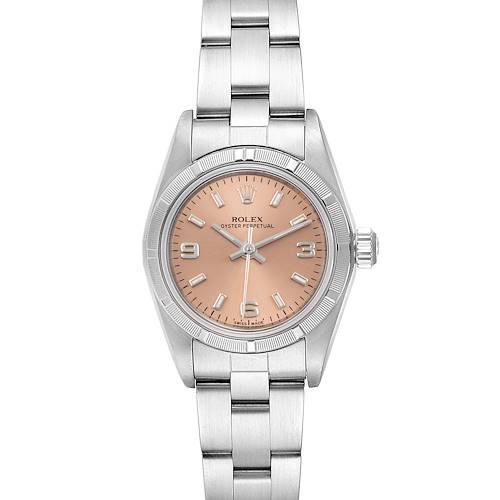 Photo of Rolex Oyster Perpetual Salmon Dial Steel Ladies Watch 76030