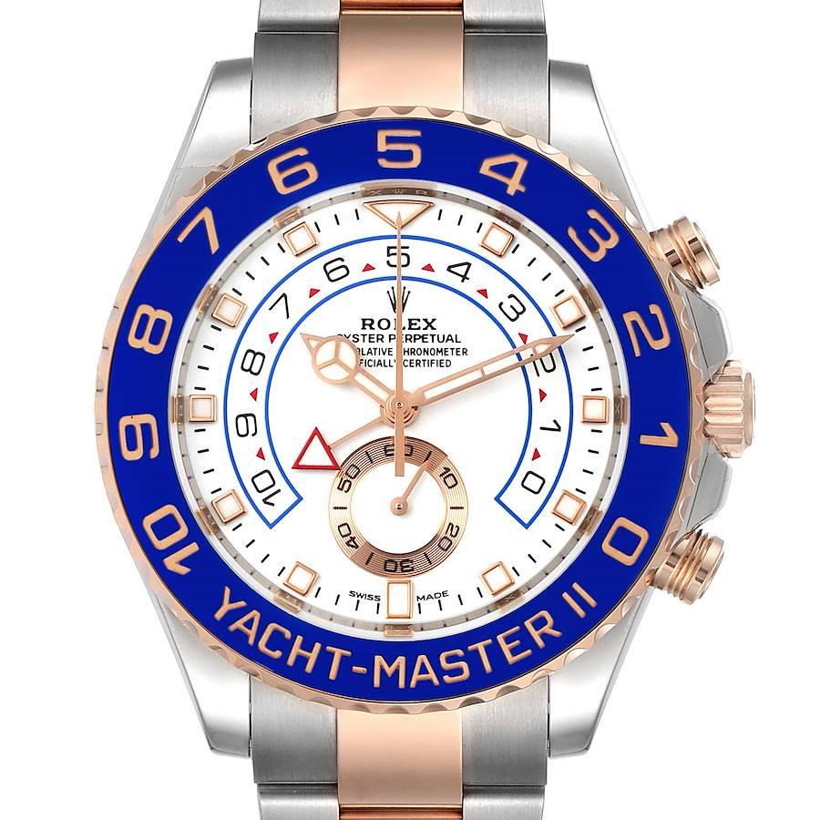 Rolex Yachtmaster II Rolesor EveRose Gold Steel Mens Watch 116681 Unworn SwissWatchExpo
