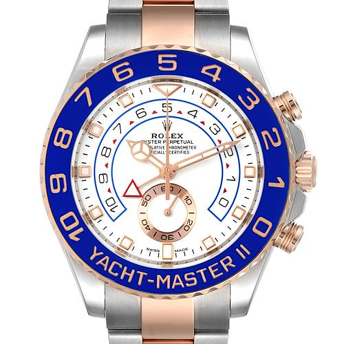 Photo of Rolex Yachtmaster II Rolesor EveRose Gold Steel Mens Watch 116681 Unworn