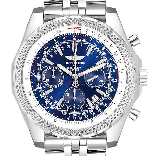 Photo of Breitling Bentley Motors Blue Dial Chronograph Steel Mens Watch A25362