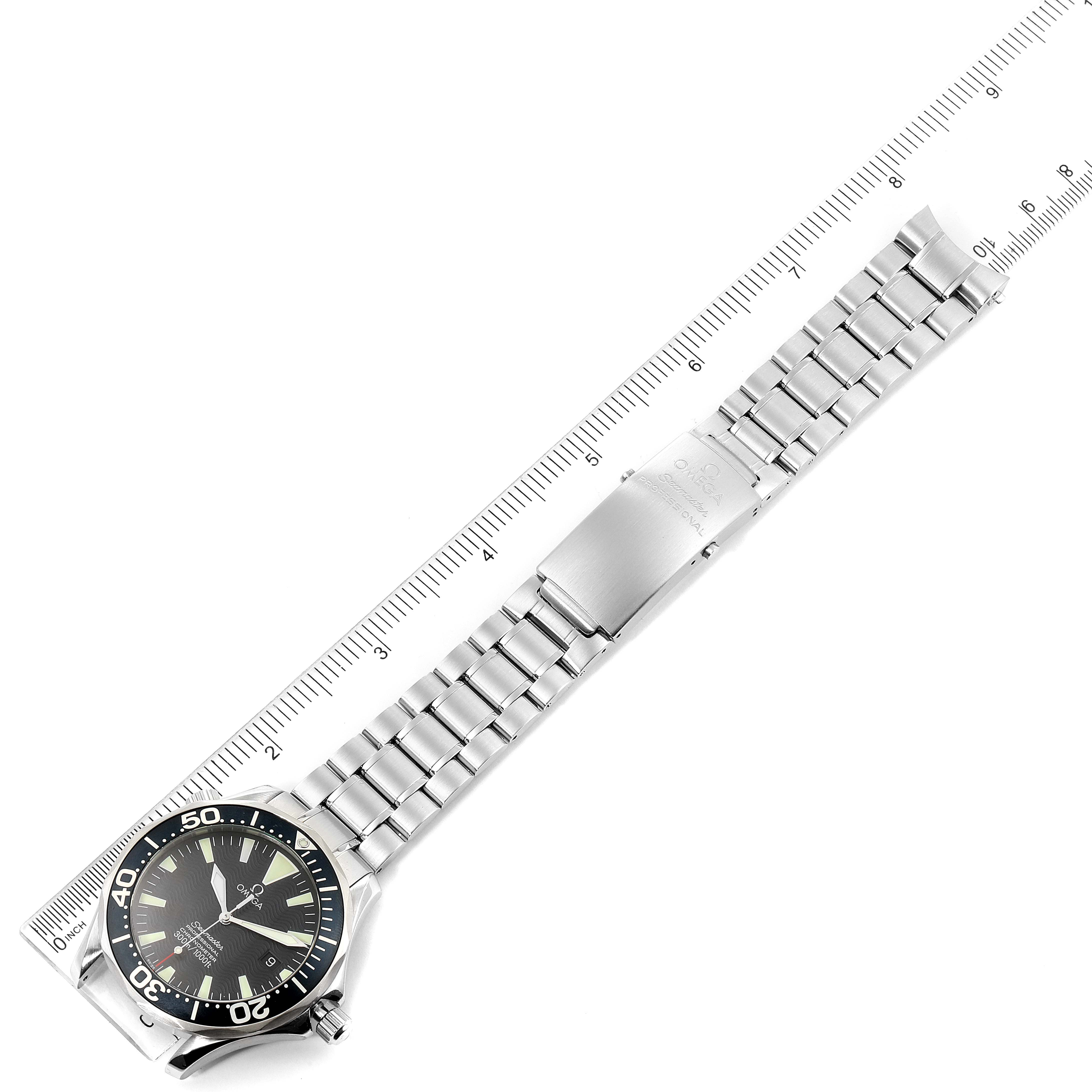 Omega Seamaster 41 300M Black Dial Mens Watch 2254.50.00 Card SwissWatchExpo