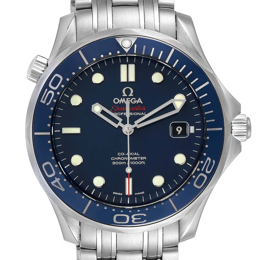 Omega Seamaster Diver Co-Axial Mens Watch 212.30.41.20.03.001 Box Card SwissWatchExpo