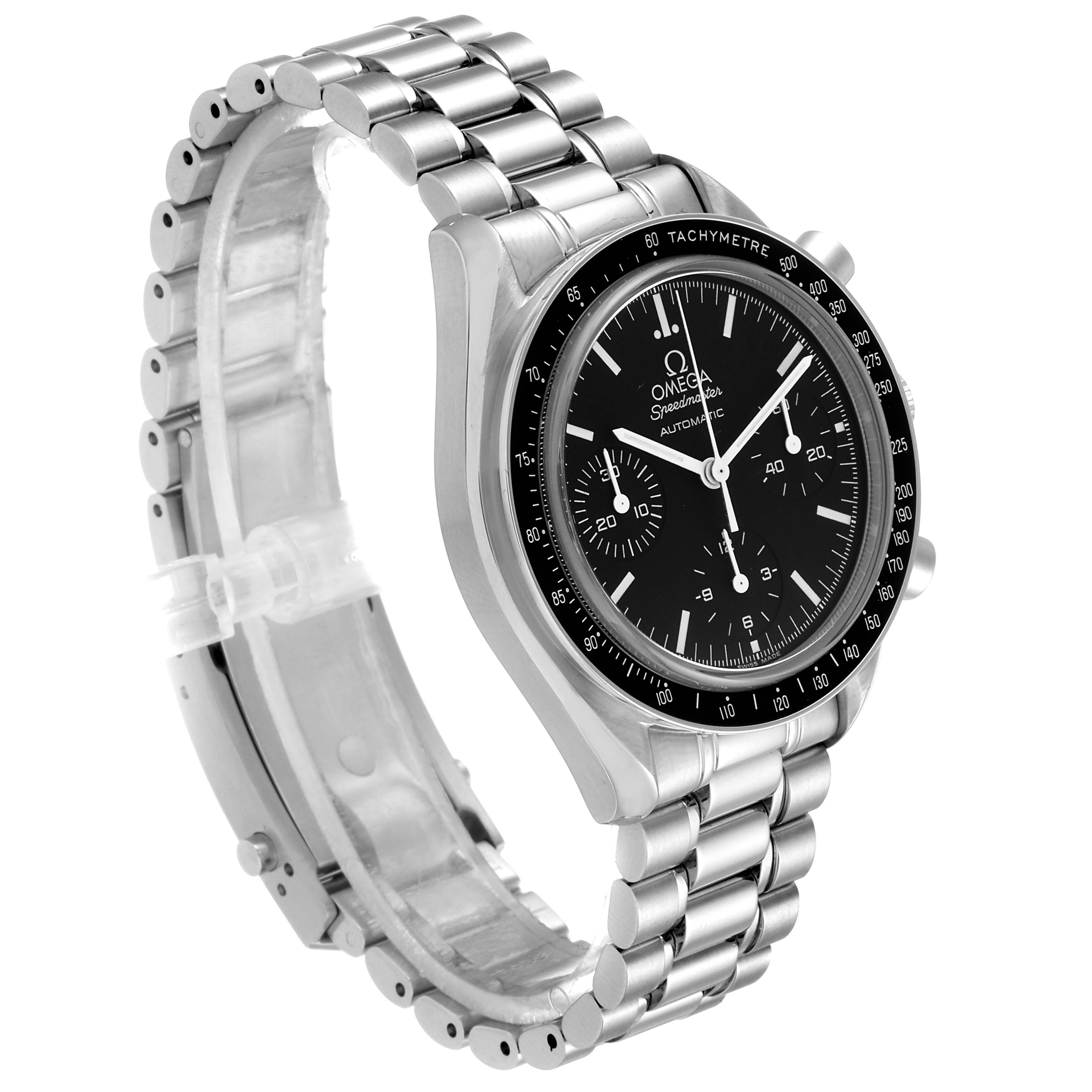 Omega Speedmaster Reduced Automatic Chronograph Steel Watch 3539.50.00 SwissWatchExpo