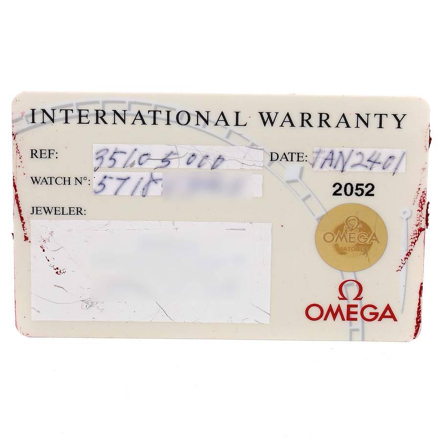 Omega Speedmaster Reduced Hesalite Crystal Mens Watch 3510.50.00 Card SwissWatchExpo