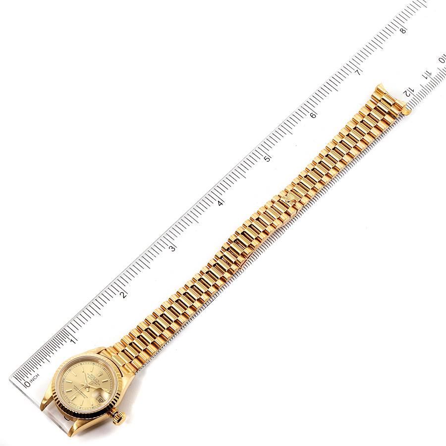 Rolex President Datejust 18K Yellow Gold Ladies Watch 69178 SwissWatchExpo