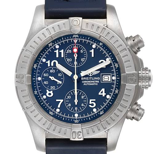 Photo of Breitling Avenger Blue Dial Chronograph Titanium Watch E13360