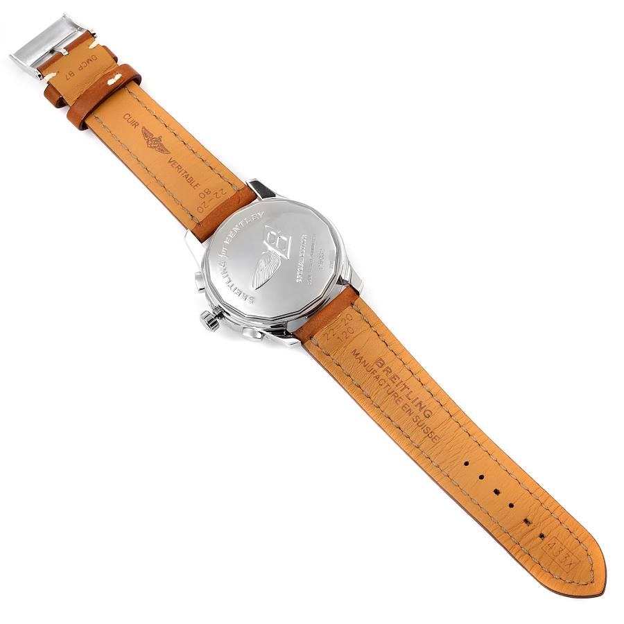 Breitling Bentley Mark VI Complications Steel Platinum Watch P19362 SwissWatchExpo