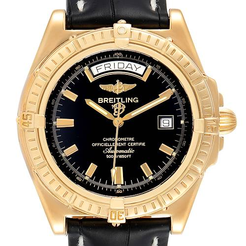 Photo of Breitling Windrider Headwind Yellow Gold Limited Edition Watch K45355