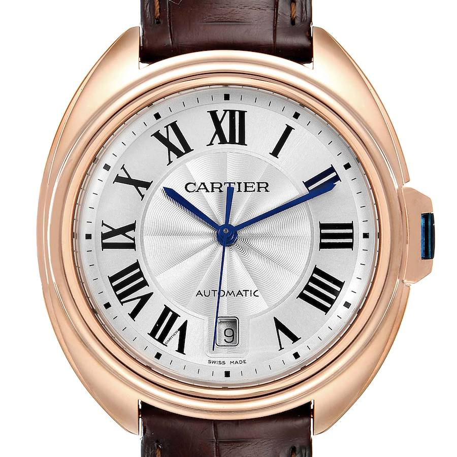 Cartier Cle 18K Rose Gold Automatic Mens Watch WGCL0004 SwissWatchExpo
