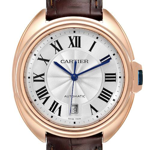 Photo of Cartier Cle 18K Rose Gold Automatic Mens Watch WGCL0004