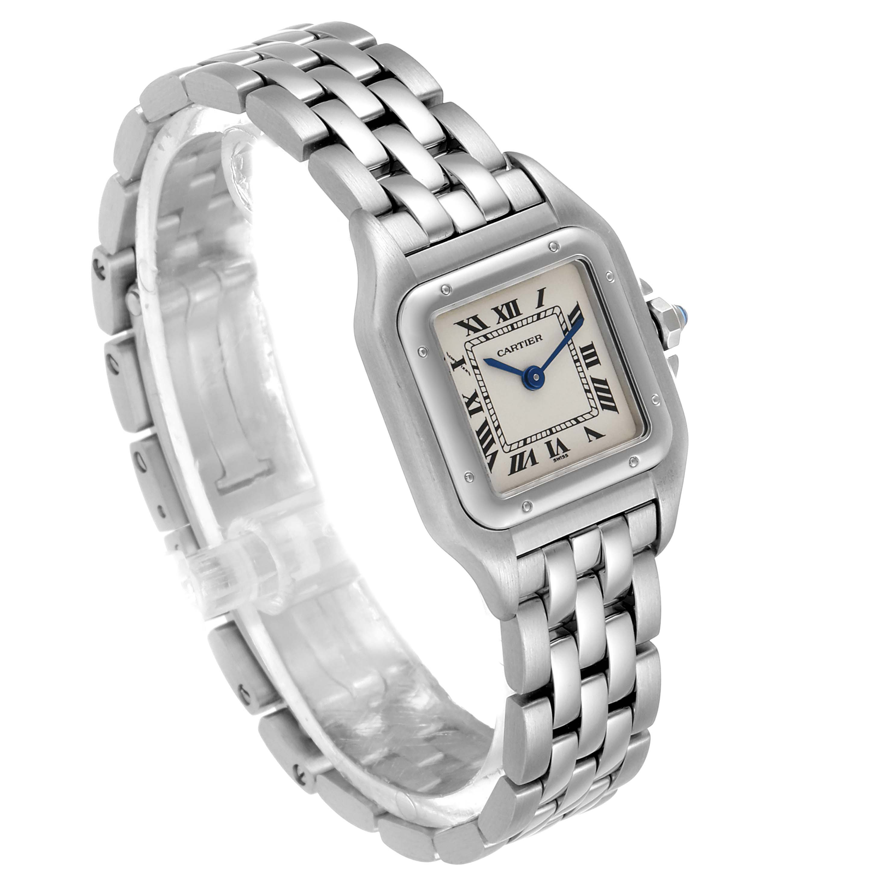 Cartier Panthere Ladies Small Stainless Steel Watch W25033P5 Box Papers SwissWatchExpo