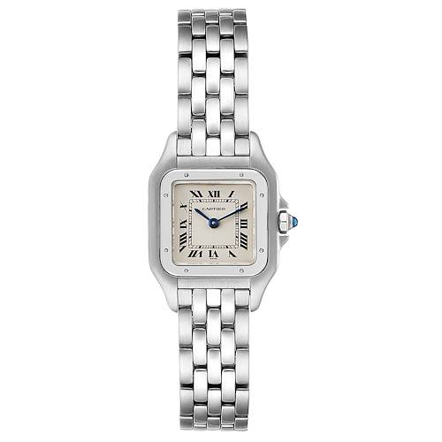Cartier Panthere Ladies Small Stainless Steel Watch W25033P5 Box Papers