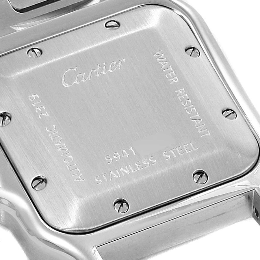 Cartier Santos Galbee Silver Dial Automatic Steel Mens Watch W20055D6 SwissWatchExpo