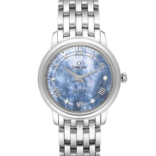 Omega DeVille Prestige MOP Diamond Ladies Watch 424.10.27.60.57.001 Unworn