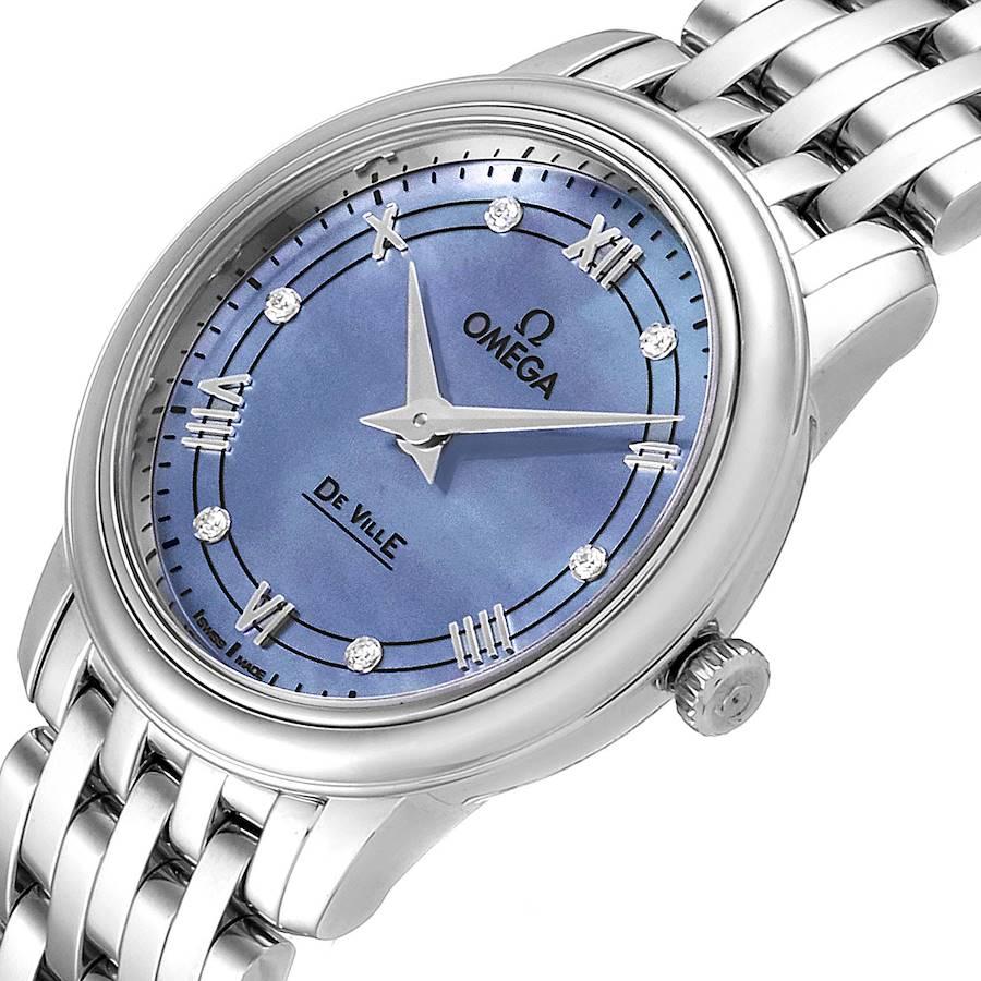 Omega DeVille Prestige MOP Diamond Ladies Watch 424.10.27.60.57.001 Unworn SwissWatchExpo