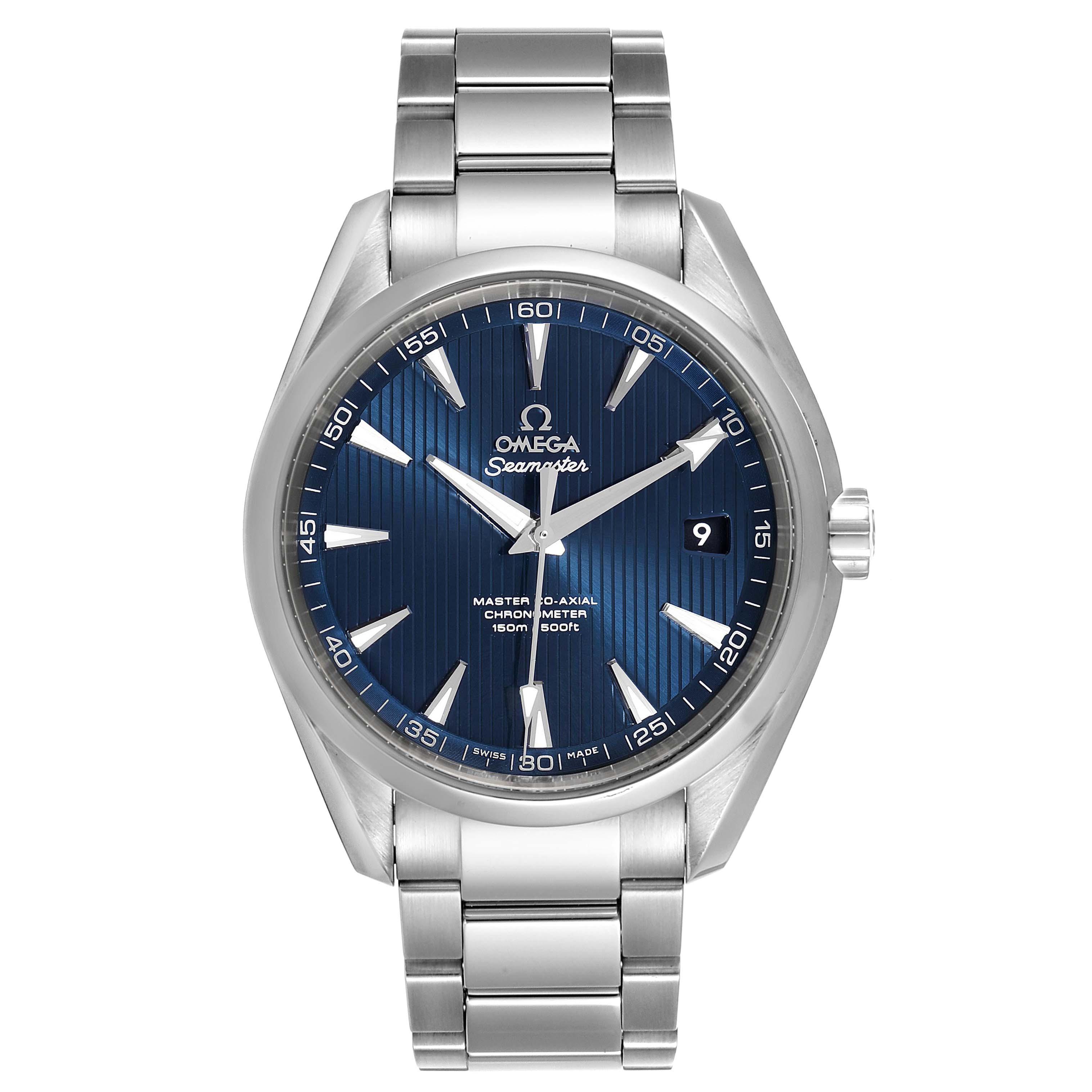 Omega Seamaster Aqua Terra Blue Dial Mens Watch 231.10.42.21.03.003 SwissWatchExpo