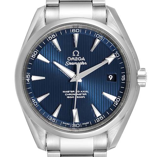 Photo of Omega Seamaster Aqua Terra Blue Dial Mens Watch 231.10.42.21.03.003
