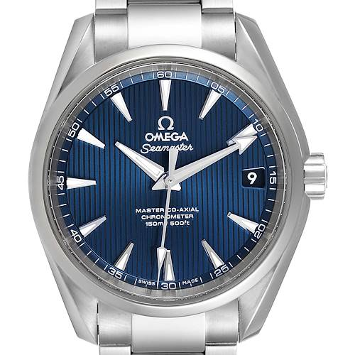 Photo of Omega Seamaster Aqua Terra Blue Dial Watch 231.10.39.21.03.002 Box Card