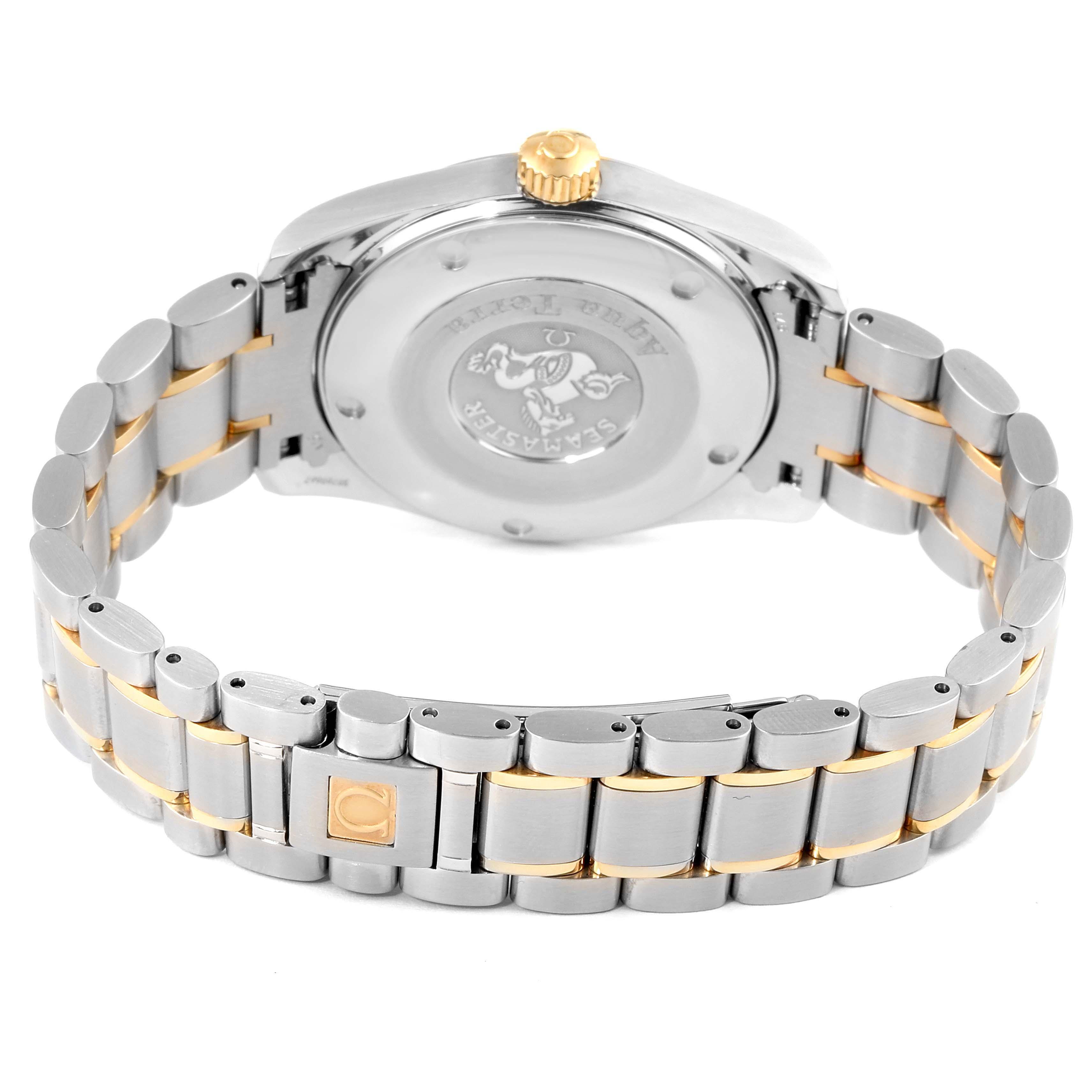 Omega Seamaster Aqua Terra Midsize Steel Yellow Gold Watch 2318.30.00 SwissWatchExpo