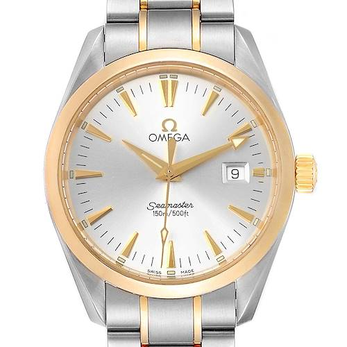 Omega Seamaster Aqua Terra Midsize Steel Yellow Gold Watch 2318.30.00