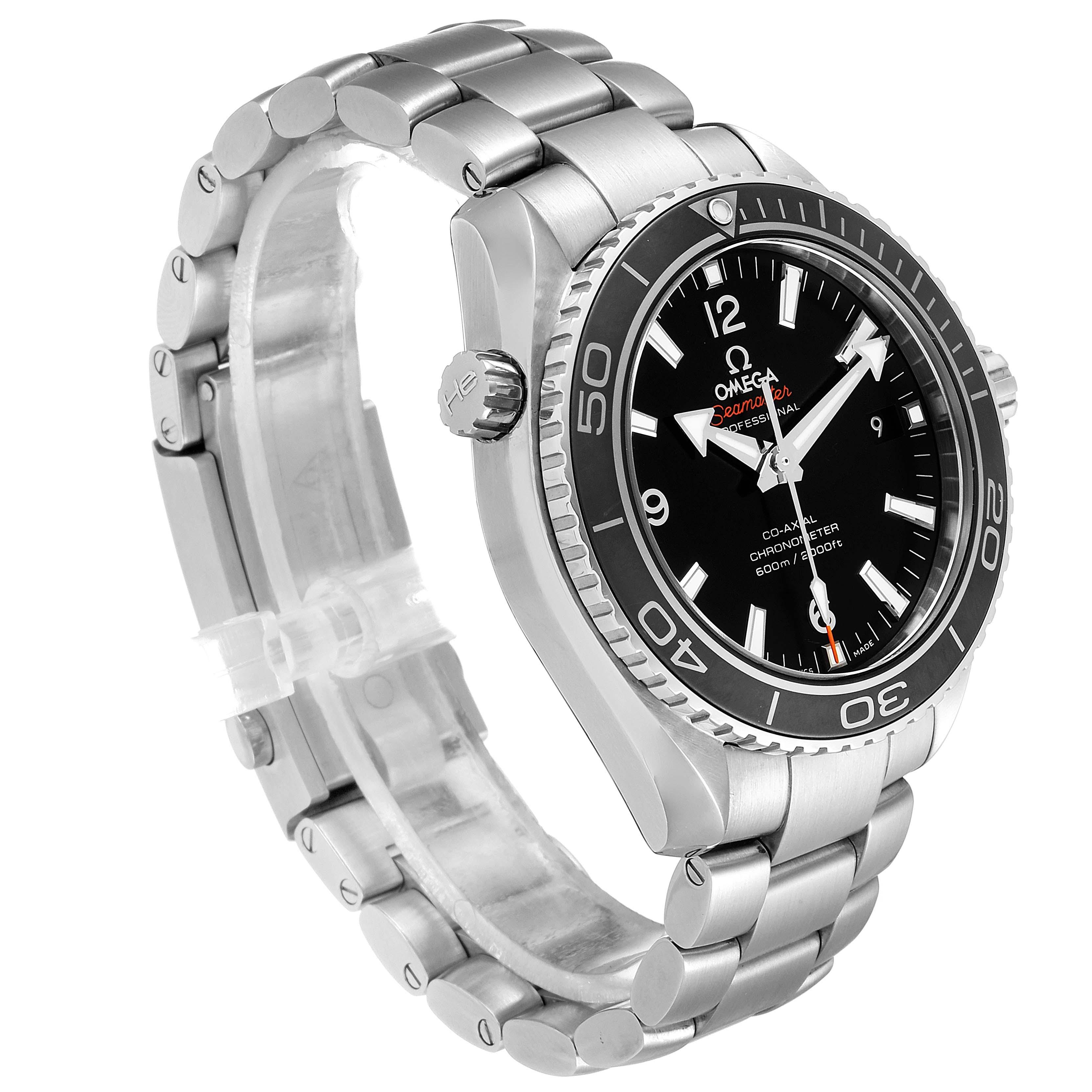 Omega Seamaster Planet Ocean Steel Mens Watch 232.30.42.21.01.001 Card SwissWatchExpo