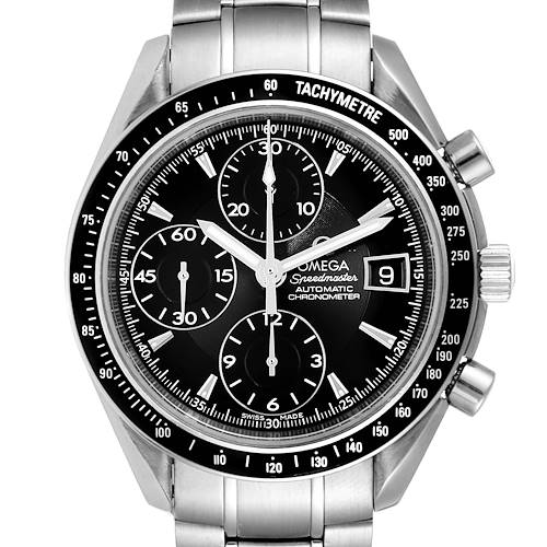 Photo of Omega Speedmaster Chronograph Black Dial Steel Mens Watch 3210.50.00