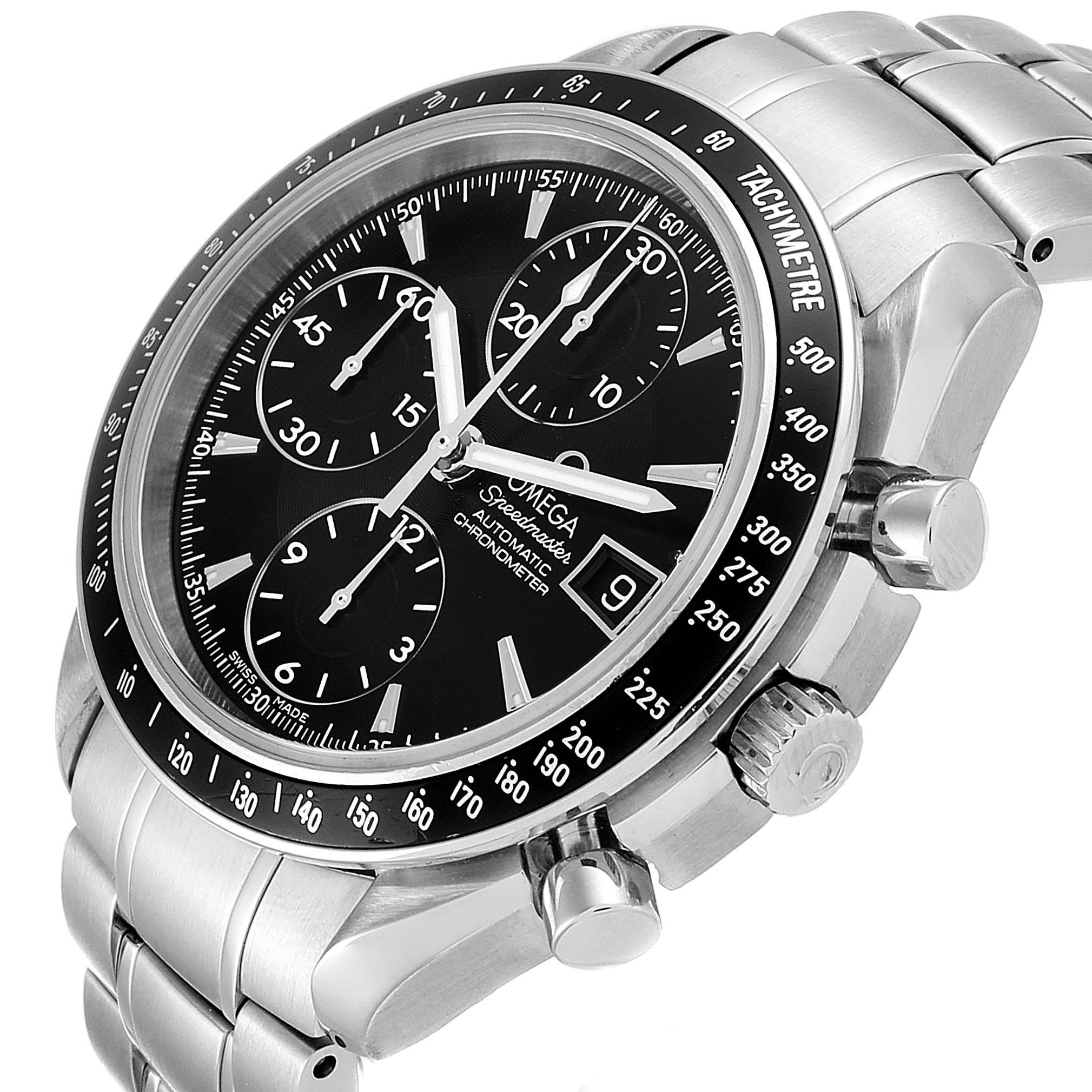 Omega Speedmaster Chronograph Black Dial Steel Mens Watch 3210.50.00 SwissWatchExpo