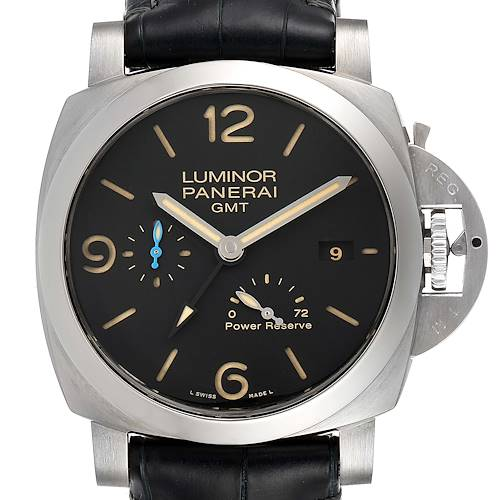 Photo of Panerai Luminor Marina 1950 3 Days GMT Mens Watch PAM01321 Box Papers