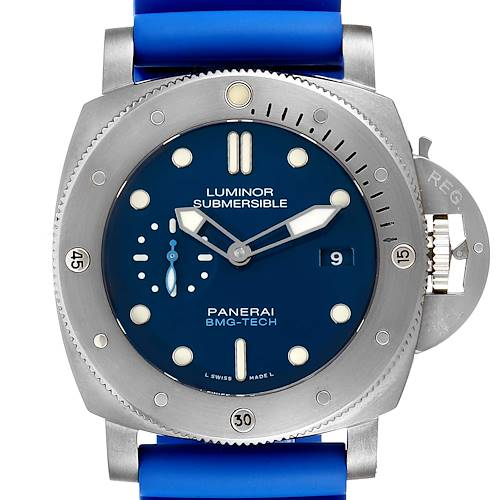 Photo of Panerai Submersible BMG-TECH Blue Dial Mens Watch PAM00692 Box Card