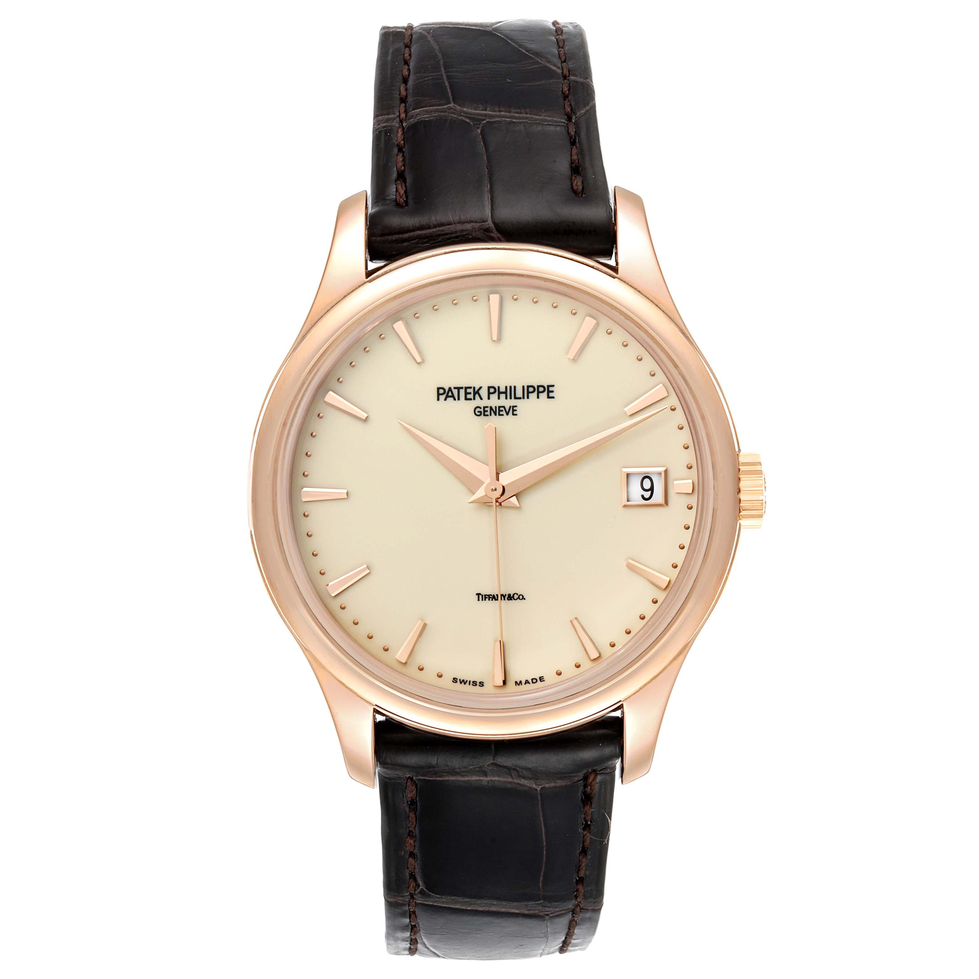 Patek Philippe Calatrava Hunter Case Rose Gold Mens Watch 5227 Box Papers SwissWatchExpo