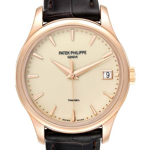 Photo of Patek Philippe Calatrava Hunter Case Rose Gold Mens Watch 5227 Box Papers