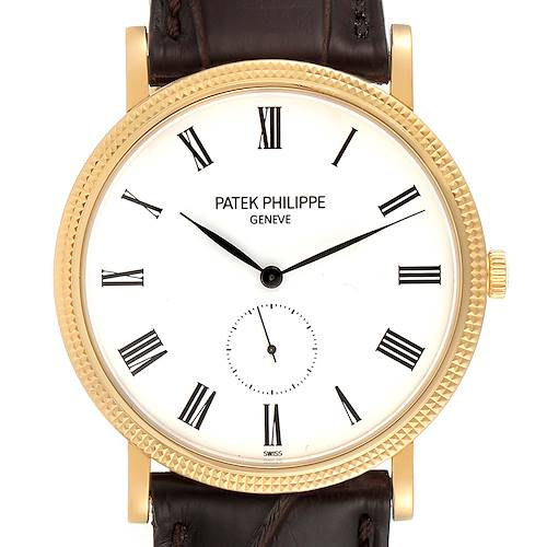 Patek Philippe Calatrava Yellow Gold Automatic Watch 5119 Box Papers