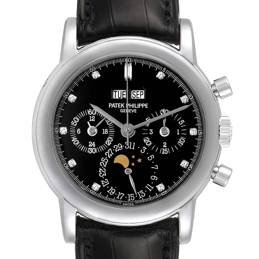 Patek Philippe Grand Complications Perpetual Calendar Platinum Watch 3970EP SwissWatchExpo