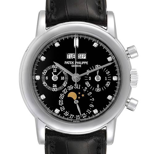 Patek Philippe Grand Complications Perpetual Calendar Platinum Watch 3970EP