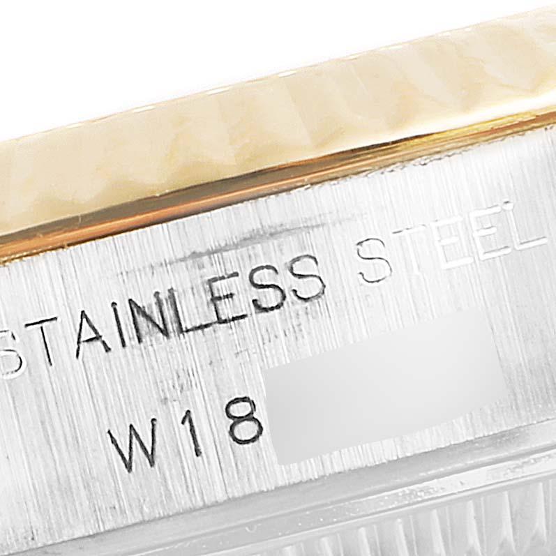 Rolex Datejust Jubilee Dial Steel Yellow Gold Diamond Ladies Watch 69173 SwissWatchExpo