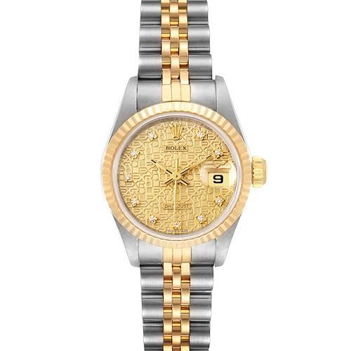 Photo of Rolex Datejust Jubilee Dial Steel Yellow Gold Diamond Ladies Watch 69173