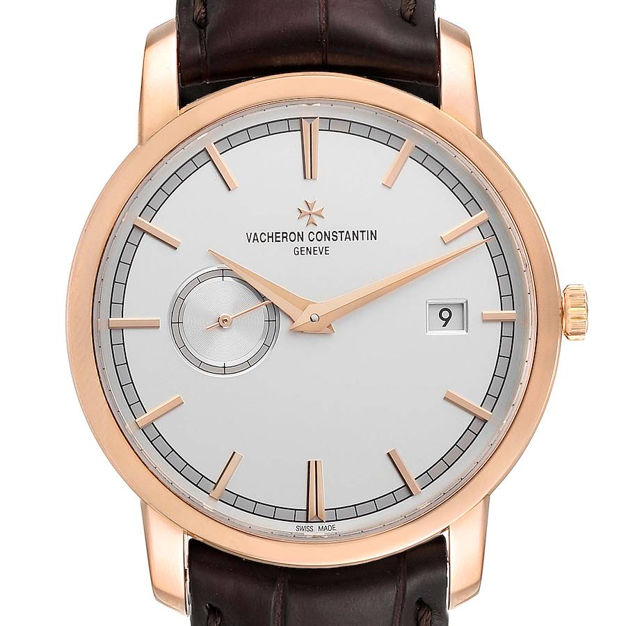 Vacheron Constantin Traditionnelle Rose Gold Mens Watch 87172 Box Papers SwissWatchExpo