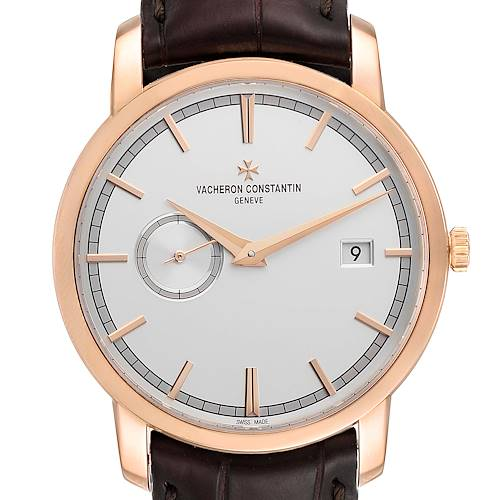 Photo of Vacheron Constantin Traditionnelle Rose Gold Mens Watch 87172 Box Papers