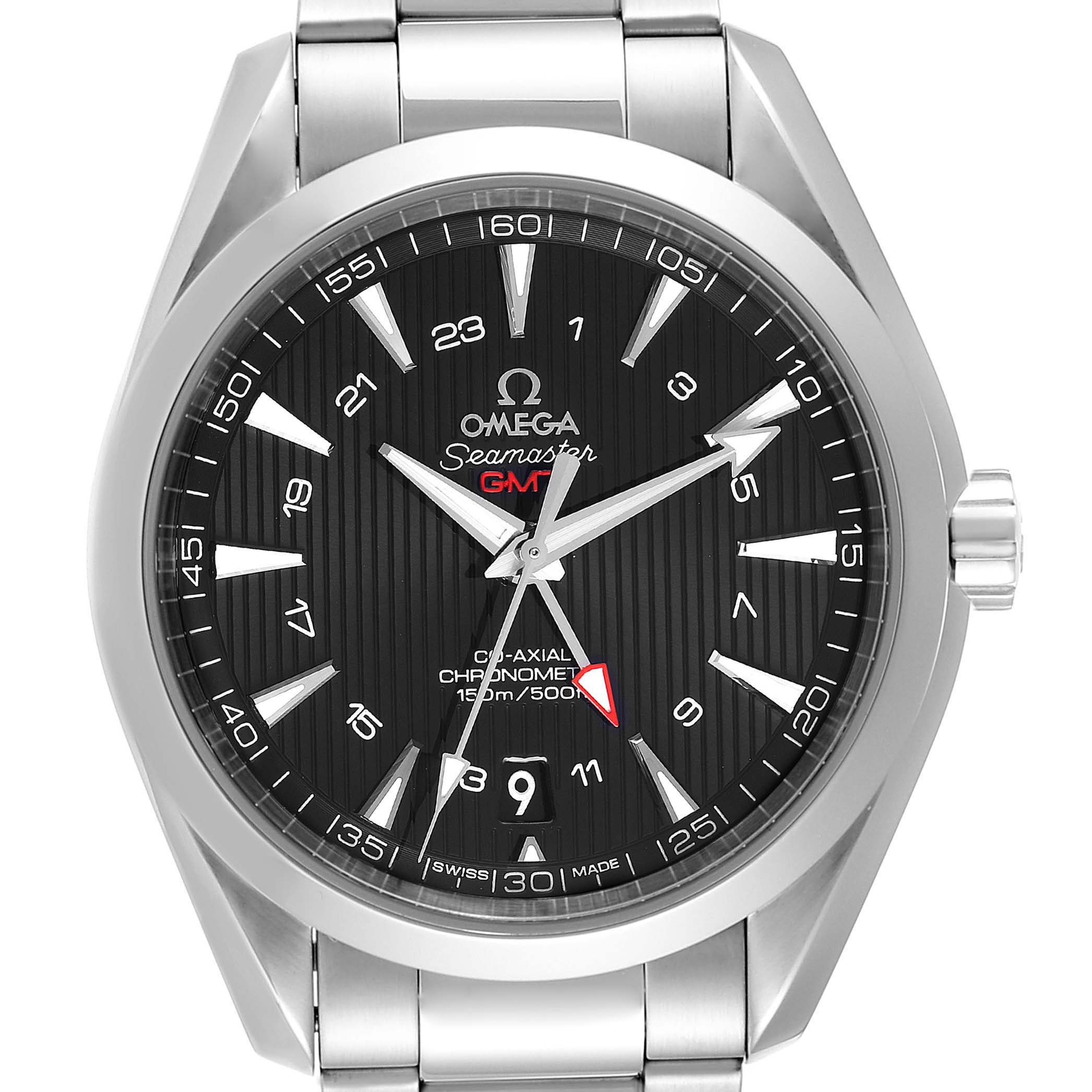 Omega Seamaster Aqua Terra GMT Co-Axial Watch 231.10.43.22.01.001 SwissWatchExpo