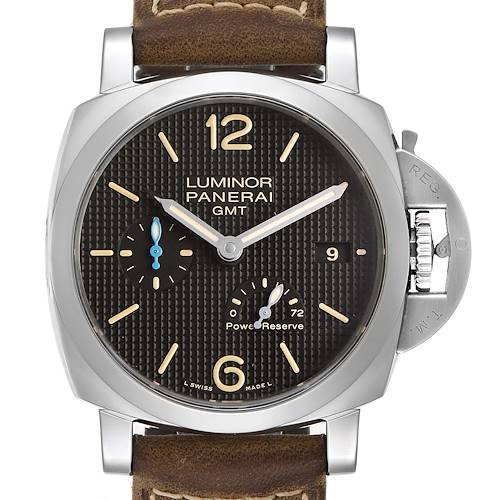 Panerai Luminor GMT 42mm 3 Days Power Reserve Mens Watch PAM01537