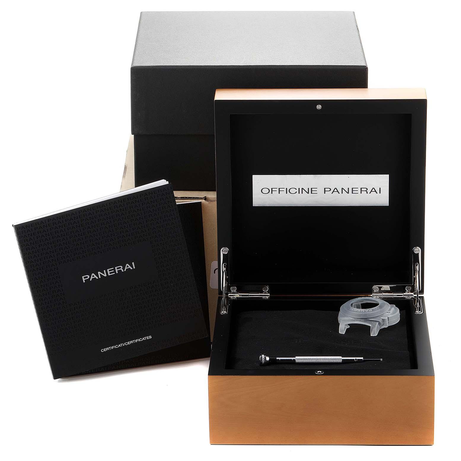 Panerai Luminor GMT 42mm 3 Days Power Reserve Watch PAM01537 SwissWatchExpo