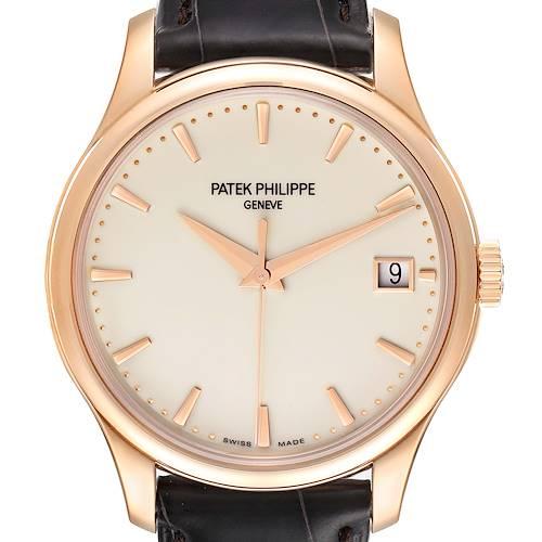 Photo of Patek Philippe Calatrava Hunter Case 18k Rose Gold Mens Watch 5227 Box Papers