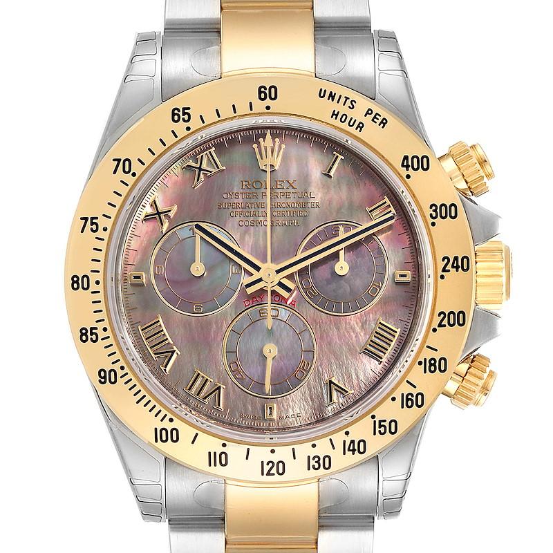 Rolex Daytona Steel Yellow Gold Mother of Pearl Dial Mens Watch 116523 Unworn SwissWatchExpo