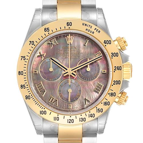 Photo of Rolex Daytona Steel Yellow Gold Mother of Pearl Dial Mens Watch 116523 Unworn